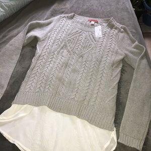 New Dress Barn Gray Sweater Size M